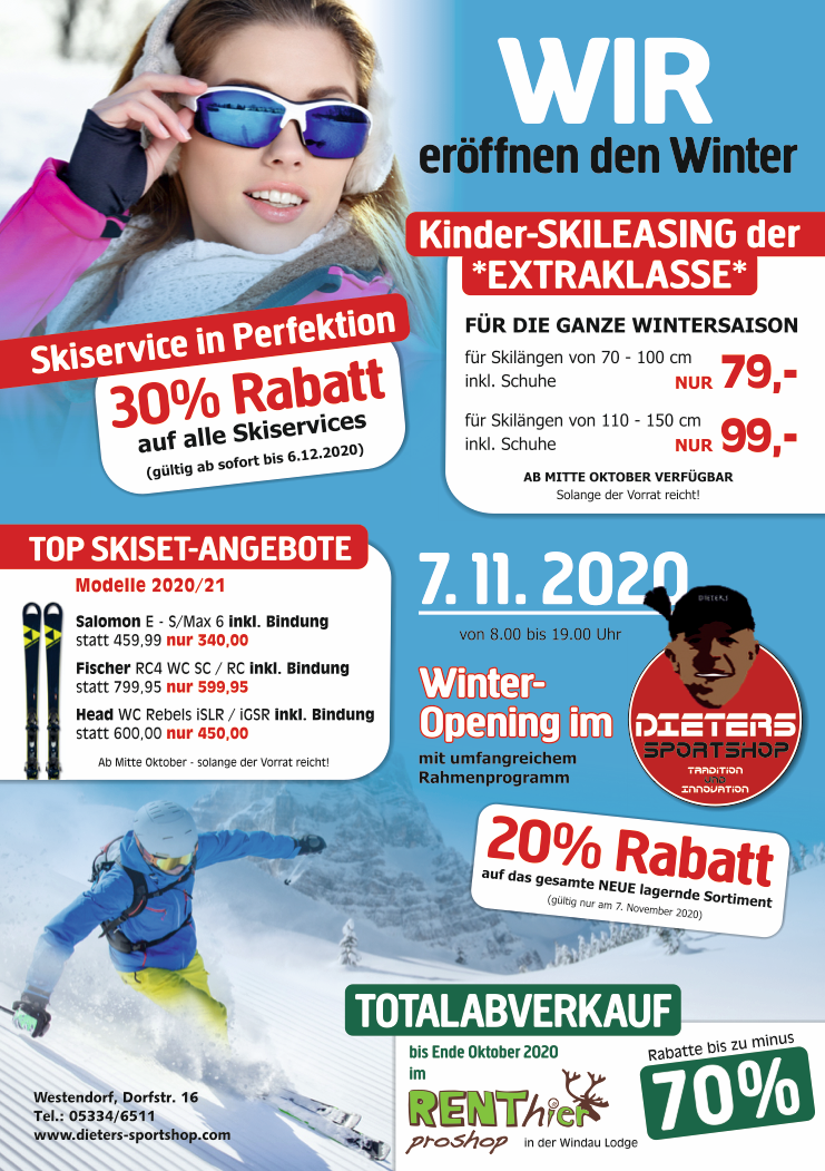 Winter Opening Dieters Sportshop